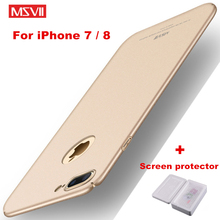 "Buy Msvii Apple iPhone 7 8 Case iPhone7 8 4.7"" Luxury 360 Full Protection Matte Hard PC iphone 8 case + Screen protector for $4.48 in AliExpress store"