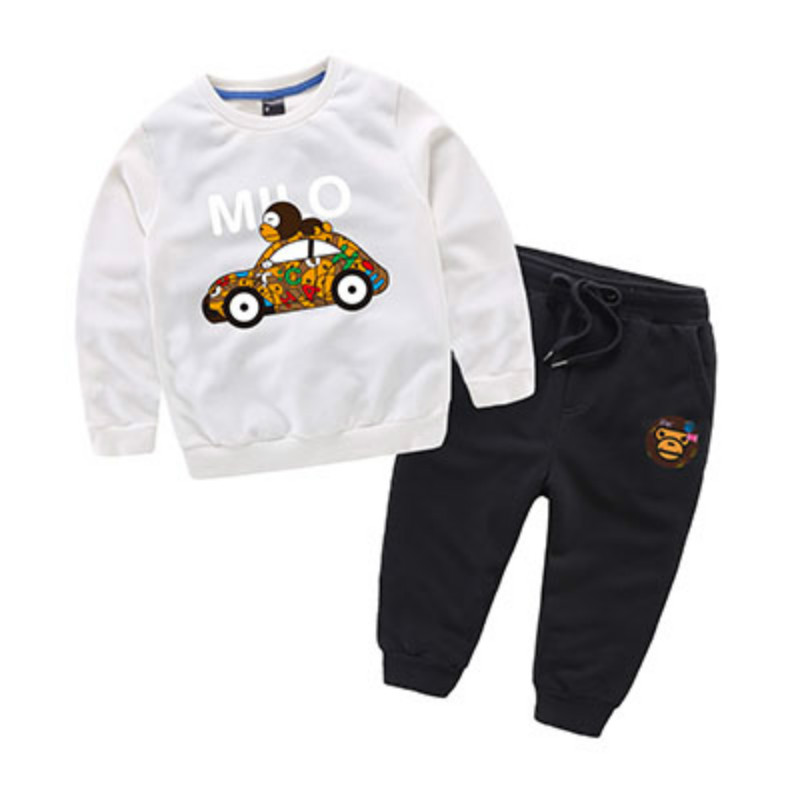 Character Monkey Car Pattern 7 Colors Boys Clothing Sets Sweatshirt Pants two Pieces hip hop Clothes for Kids Casual Fashion Kid<br><br>Aliexpress