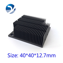 Aluminum HeatSink Heat Sink radiator for electronic Chip LED RAM COOLER cooling 40*40*12.7mm Aluminum High Quality YL-0030(China)