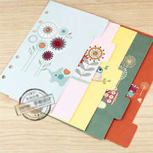 Jamie Notes Notebook Planner Accessories Cartoon Illustration Dividers Inner Page Bookmark for Filofax Gift Stationery 5pcs/Set