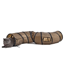 """S""Funny Pet Tunnel Cat Play Tunnel Brown Foldable 1 Holes Cat Tunnel Kitten Cat Toy Bulk Cat Toys Rabbit Play Tunnel(China)"