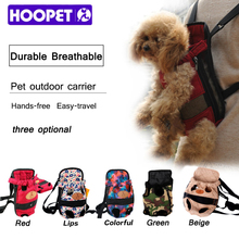 HOOPET Dog carrier fashion red color Travel dog backpack breathable pet bags shoulder pet puppy carrier(China)