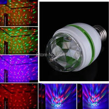E27 3W Colorful Auto Rotating RGB LED Bulb Laser Spot Snowflake Projector Luminaria Light for Party Disco DJ Show New Magic Ball