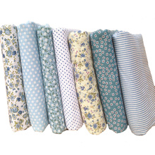 Hoomall 7PCs Mixed Cotton Fabric For Patchwork Cloth DIY Handmade Sewing Home Decoration Soft Felt Fabric Needlework 25x25cm