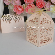 Laser cut wedding favors paper gift box for guest, indian wedding return gift favor boxes(China)