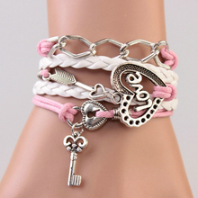 19Style Multilayer Braided Bracelets Vintage Owl Wings Infinity Bracelet Multicolor Woven Leather Bracelet & Bangle