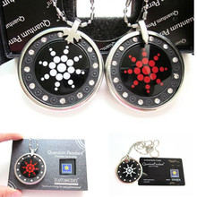 Quantum Scalar Energy Pendant with CZ Diamonds & Tourmaline Stone, Stainless Steel Chain, Face Acrylic Protect, Free Shipping