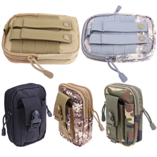 Ultralight Military Waist Nylon Bag Molle Unisex Belt Bag Waist Pack Cellphone Pocket Outdoor Pouch for Camping Hiking bolsa(China)