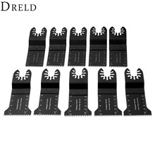 DRELD 10Pcs Oscillating MultiTool 32-45mm HCS Japanese-profile Teeth Saw Blade Tool For Multimaster Renovator Bosch Power Tools