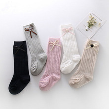 3 size cute sexy thigh high stocking for women bow tie medias long over the knee socks full cotton vertical pattern top quality(China)