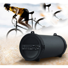 89mm Big Bass Outdoor Bluetooth Speaker Wireless Sports Portable Subwoofer Bike Car music Speakers Radio FM Mp3 player drop ship(China)