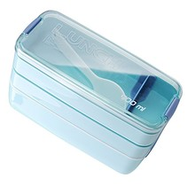 New Arrive 900ml Portable 3 Layer Healthy Food Container Microwave Oven Lunch Bento Boxes Lunchbox