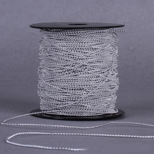 100 Meters/Roll 1.5mm Gold Silver Artificial Pearl Beads Chain Wedding Party Accessories Christmas Tree Home Hanging Decoration