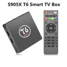 Original T6 TV Box Android 7.1 Smart TV Box 2GB RAM 16GB ROM Amlogic S905X Quad core Cortex A53 4K 2.4GHz WiFi Smart Set Top B