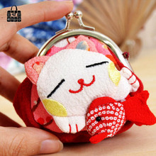 RoseDiary plutus cat National Handmade Cloth art zero wallet Women lady Wallets,student&girl children Wallet hasp coin Purse bag