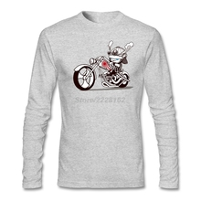 Long sleeved Slim Company t shirt Sites Adult Motor Rider Tees Born to Samurai Graphic man T Shirts Low Price(China)