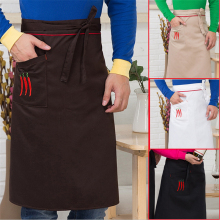 Universal Unisex Women Men Kitchen Cooking Waist Apron Pinafore Long Apron Waiter Chef Apron Sleeveless Peppers Chili Pattern