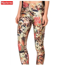 Hipsterme Drop ship S-4XL Women Grass monster Leggings MIlk Leggings Galaxy leggings Plus Size girl Leggings