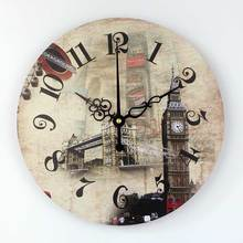 Brand London Big Ben 3d wall decor watch with absolutely silent 12888 clock movement Europe style home decor wall clock gift(China)