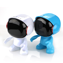 Outdoor Bluetooth Speaker Astronaut audio Cartoon Robot portable Wireless Boombox Mini Player Stereo Music for Smart Phones(China)