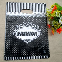 hot sale 100pcs/bag 25*35cm fashion design pattern Plastic Jewelry Gift bag Beautiful Plastic Shopping Bags Recyclable 2509