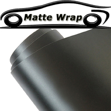 Car Styling Black Matte Vinyl Car Wrap Car Motorcycle Scooter DIY Styling Adhesive Film Sheet With Air Bubble Free Sticker(China)