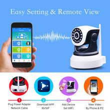 IP Camera Night Vision Webcam Wireless WiFi 720P Network Security CCTV Camera Hd Support SD Card Wifi Camera for Smartphone