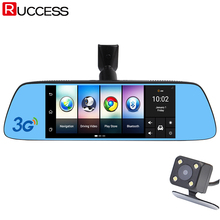 "Ruccess 7"" 3G Special Mirror Rearview Car DVR Camera DVRs Android 5.0 With GPS Navigation Automoblie Video Recorder Dash Cam"