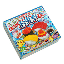 1bag DIY Kracie Popin Cook candy dough Toys.Sushi Panda rice animal zoo happy kitchen Japanese food candy snacks making kit