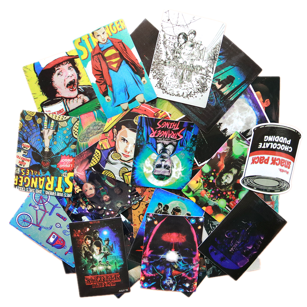 36pcs Stranger Things Stickers for Car Laptop Motorcycle Bicycle Luggage USA!