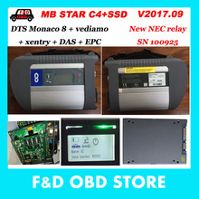 Best Quality MB C4 star WIFI with SSD 2017.09 Software Complete super engineers C4 SD connect Diagnostic Tool For Almost Laptops(China)