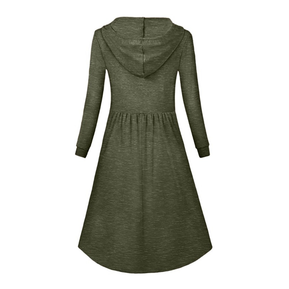 8c2cc90f5b45b6 Bohoartist Hoodie Plus Size XXXL Damen Langarm Kleid Damen Casual Schwarz  Rosa Weibliche Knielangen Schlankes Sweatshirt Kleid
