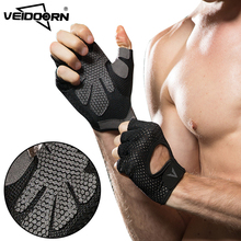 Veidoorn Professional gym gloves exercise gloves men hands protecting breathable sports gloves sports fitness weight-lifting(China)