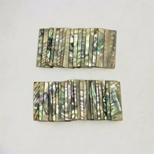 10 Pcs New Quality Flamed Violin Bow Frog Abalone Slides Violino Parts Accessories(China)