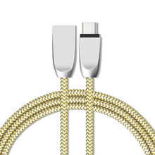 Zinc Alloy USB Type C Nylon Line cable for Xiaomi Htc Samsung type-c charger wire ZUK Z1 2 USB type c cables fast Charging letv
