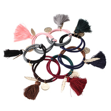 M MISM Fashion Hairband for Women Alloy Leaf elastic band Casual headband hair accessories Cute Baby Gum For Girl Christmas Gift(China)