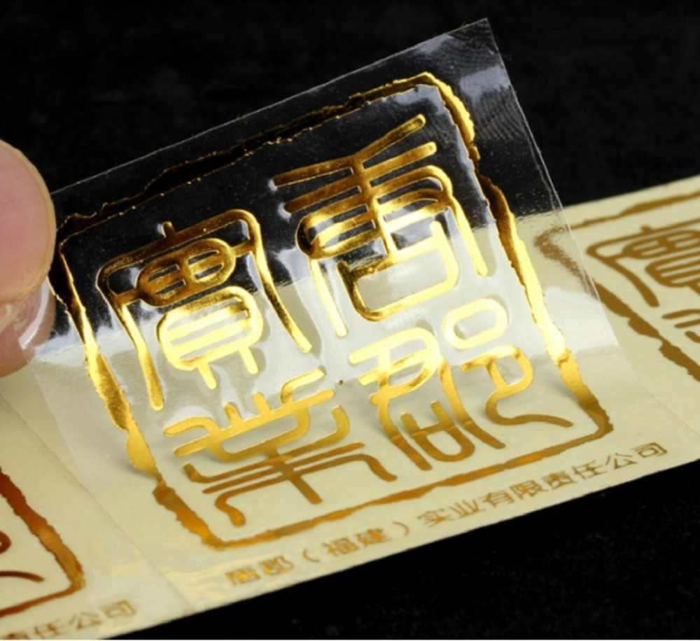 Custom transparent clear label stickers printing sticker packing labels with custom logo text adhesive stickers labels