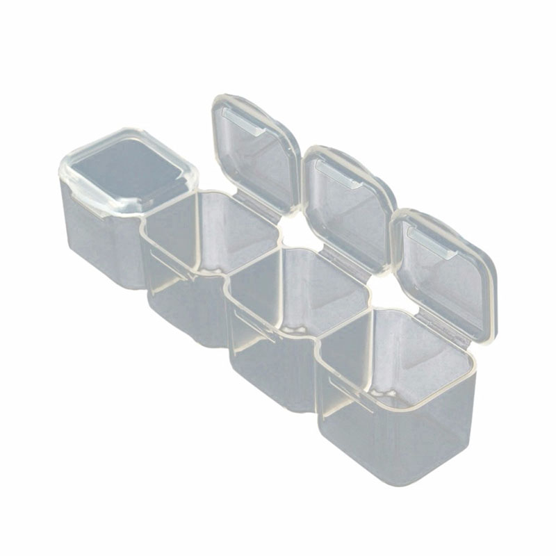 ONNPNNQ 28 Slots Clear Plastic Empty Storage Box Jewelry Nail Art Rhinestone Tools Display Storage Case Travel Organizer Holder3