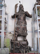 "free shipping [Nice Discount ] 79""Large Chinese Bronze carved Dragon Guan Gong warrior God ""Guan Yu"" Statue"