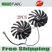Free shipping 2pcs/lot PLD10010S12HH 6PIN 95mm DC12V 0.4A for MSI GTX980 GTX970 GTX960 GAMING Graphics card fan