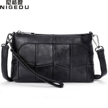 Buy NIGEDU Genuine leather bags women Crossbody Bags Soft Stitching sheepskin Ladies messenger bags Clutches small clutch purses for $13.95 in AliExpress store