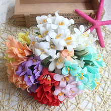 10pcs/lot Real Touch Pe Petunia Foam Flower Bouquet Pe Flowers Scrapbooking Wedding Decoration DIY Wreath Fake Flowers retail(China)