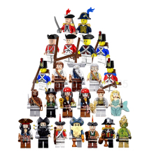 24pcs/se Pirates Of The Super Heroes Caribbean Batman Movie Sea Boat Trident Building Block Children Toys Compatiable with Lego