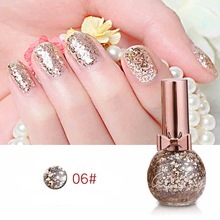 BK Brand 2017 New Sequins Nail Polish Long-Lasting Quickly Dry Glitter Nail Lacquer Paillette Enamel Paint 10ml(China)
