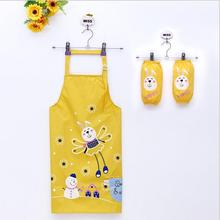 2017 Cartoon Cute Animal Pattern Child Apron Children Eating Painting Anti-oil Pollution Kids Apron Kit Tablier Enfant Avental(China)