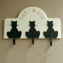 The Cat Shape Wall Hook Hanger Home Decoration Accessories Vintage Coat Wall Key Hooks