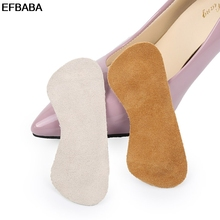 Buy EFBABA High Heel Insoles Thick Wear-resistant Leather Heel Sticker Non-slip Women Shoe Insole Adjust Code Accessoire Chaussure for $4.73 in AliExpress store