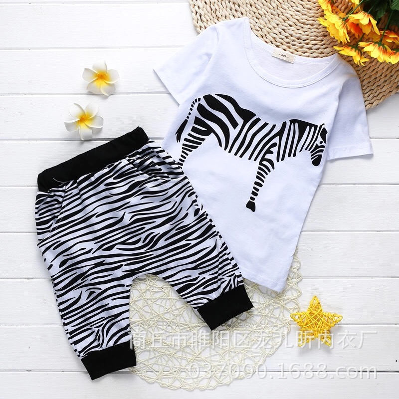 Hot Sale 2017 Summer Baby Boys Sets Clothing Set Geometric Shorts Children Kids Clothes Cotton Pullover Black And White Worsted<br><br>Aliexpress