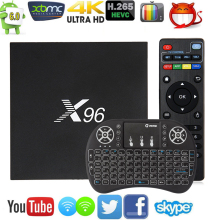 Hot Original X96 Smart TV Box  Amlogic S905X Quad Core Android 6.0 TV Box WIFI HDMI 4K*2K HD Set Top box Media Player pk A95X