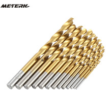 13pcs/set Twist Drill Bit Set HSS Plating Titanium Saw Metric System Woodworking Metal Platic Mini Drilling Tools High Quality